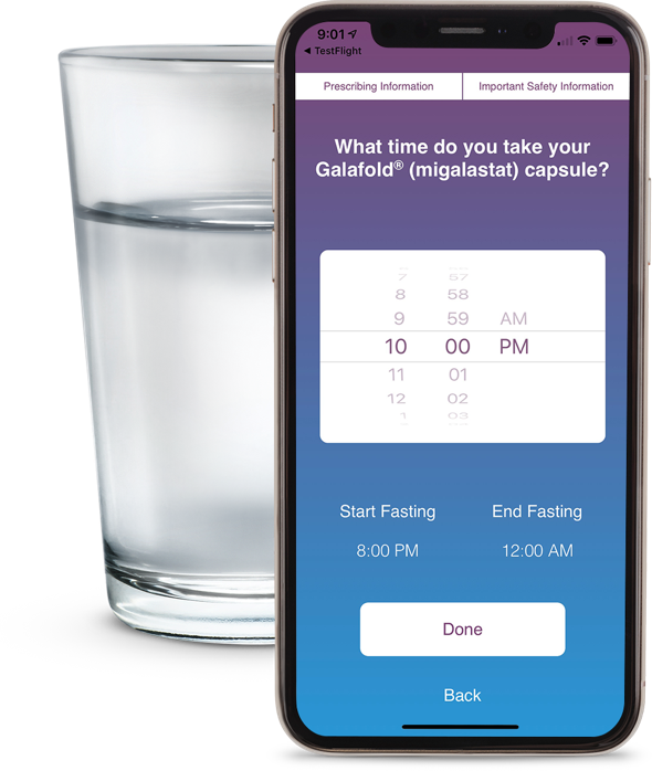 Galafold My Day App | Phone Clear Liquids